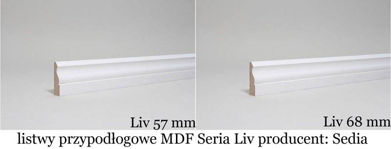 Listwy przypodłogowe MDF Liv